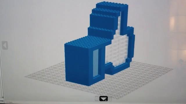 3D Lego Facebook Like Light