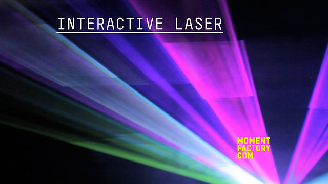 Moment Factory – Interactive Laser