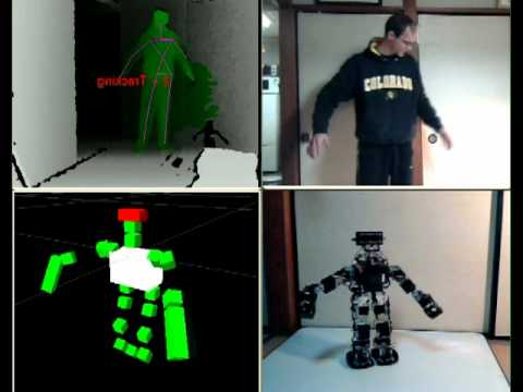 Control Robot With Kinect