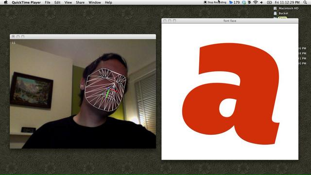 Face Tracking Font Design
