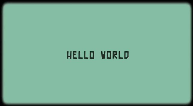 Hello World ! – Visual Programming Documentaries