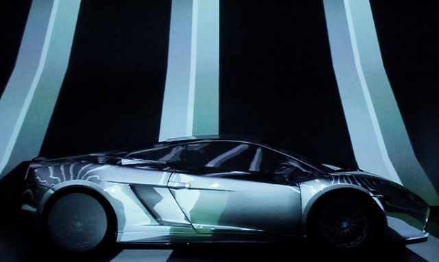 Video Mapping On Lamborghini Gallardo