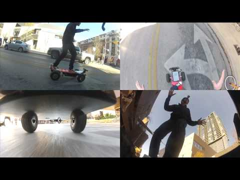 Kinect Control Skateboard Motored