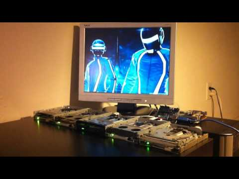 Floppy Drives Play Tron Soundtrack