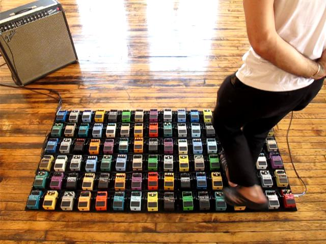 David Byrne – Interactive Guitar Pedal Art