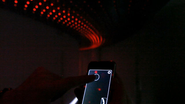 Reactive Ceiling – Iphone Interaction