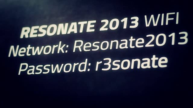 Resonate 2013 – Video Documentation