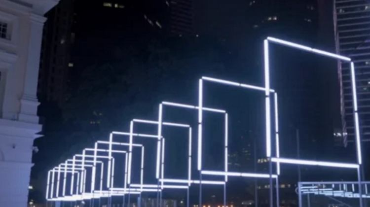Tetro-interactive-light-installation